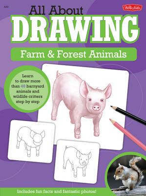 All About Drawing Farm & Forest Animals By Cuddy, Robbin